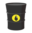 Cartoon barrel of oil vector image