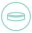Hockey puck line icon vector image