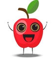 cartoon apple character vector image