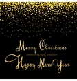 Christmas banner with golden conffetti vector image