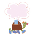 Cute snail and boot with flowers vector image
