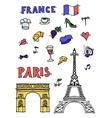 Hand drawn Paris vector image