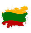 Lithuania flag grunge style on white background vector image