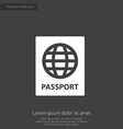 passport premium icon vector image