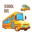 school bus on white vector image