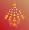 star of Christmas vector image
