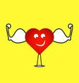 strong healthy heart vector image