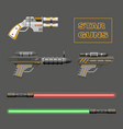 Video game weapons vector image
