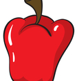 a red capsicum vector image vector image