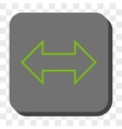 Exchange Horizontal Rounded Square Button vector image
