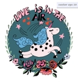love is in the air logo vector image