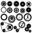 gears silhouette vector image