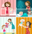 mother and baby design vector image vector image