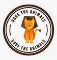 save the animals vector image