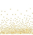 Abstract pattern of random falling golden dots vector image
