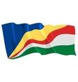 political waving flag of seychelles vector image