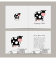Greeting card with funny cow vector image vector image