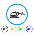 ambulance helicopter rounded icon vector image