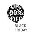black friday sale banner speech bubble vector image
