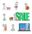Flat people sale vector image