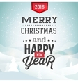 Merry Christmas background with winter landscape vector image