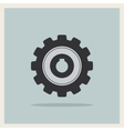 Technology mechanical gear icon vector image