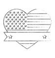united states of america with heart emblem frame vector image