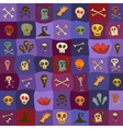 Halloween icons bright seamless pattern vector image