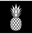 pineapple silhouette icon vector image