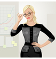 office girl boss vector image