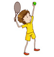 A male tennis player vector image