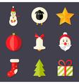 9 Christmas Icons Set 8 vector image