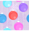 Christmas decorative balls vector image vector image