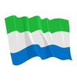 political waving flag of sierra leone vector image vector image