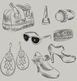 Hand Drawn Sketch of a Ladies Accessories vector image