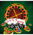 roulette green all vector image vector image