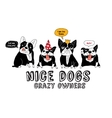Pets French bulldog isolate white and fun sign vector image