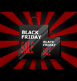 black friday sale with shopping bag vector image