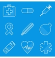 Blueprint icon set Medical vector image