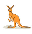 cartoon cute kangaroo vector image