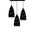 chandelier silhouette black vector image