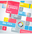 geometric infographic business template vector image