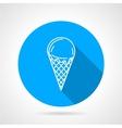 Line icon for ice cream vector image