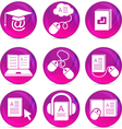 Modern Education Icons vector image