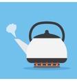 Tea kettle on gas stove vector image