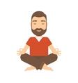 Man meditating vector image vector image