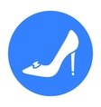 Bride s shoes icon of for web vector image