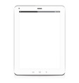 tablet computer white vector image vector image
