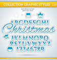 Christmas Graphic Style for Design vector image