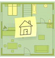 house plan vector image vector image